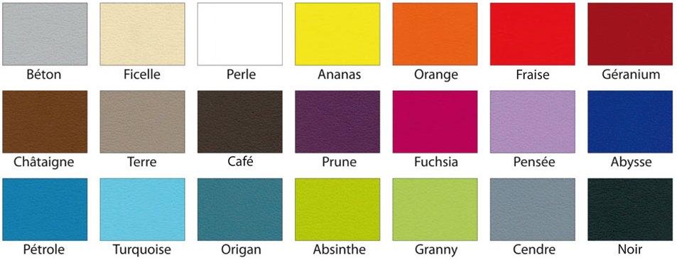 Coloris du Fauteuil